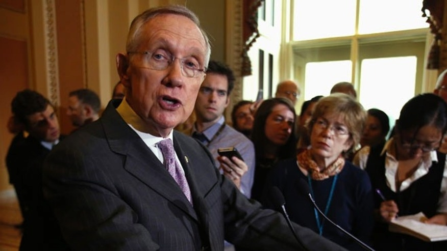 U.S. Senate Majority Leader Harry Reid (D-NV) on Capitol Hill in Washington December 17, 2013.