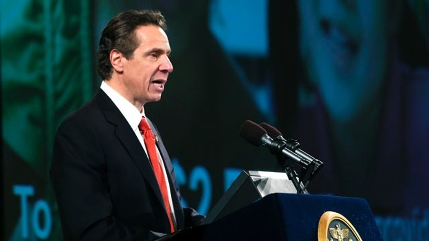 Jan. 8, 2014: New York Gov. Andrew Cuomo delivers his annual State of the State address at the Empire State Plaza Convention Center.