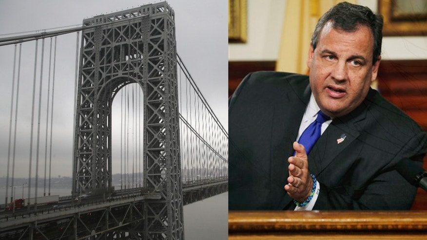 FORT LEE, NJ - DECEMBER 17:  Traffic moves over the Hudson River and across the George Washington Bridge between New York City (R), and Fort Lee, New Jersey on December 17, 2013. New Jersey's Republican Governor Chris Christie has had to fend off allegations in a scandal involving the bridge. In September, two of Christie's top appointees at the Port Authority of New York and New Jersey ordered the lanes on the bridge shut to traffic, causing days of gridlock in Fort Lee, New Jersey. Some Democrats have said that the move was political revenge against the town's mayor, Democrat Mark Sokolich, for not endorsing Christie for reelection.  (Photo by John Moore/Getty Images)
