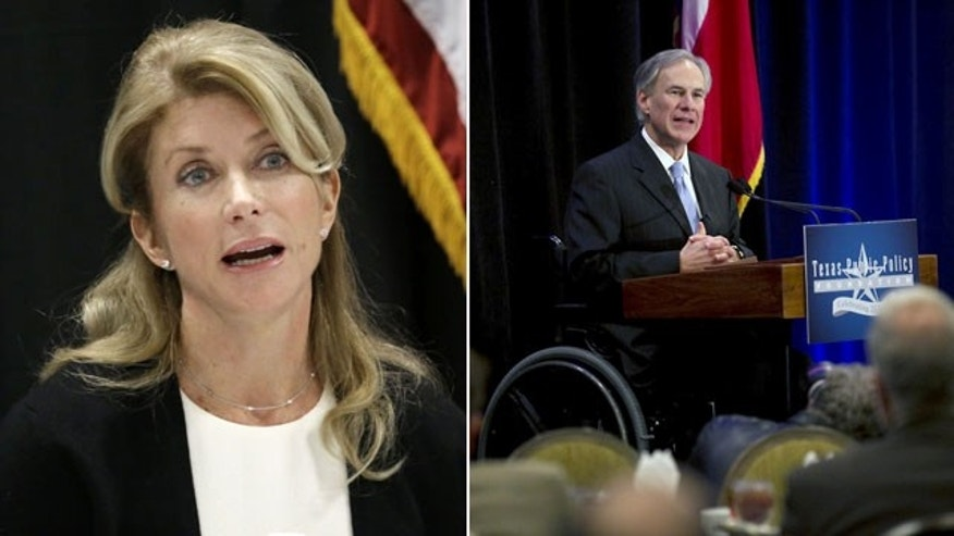 Texas gubernatorial candidates: Democrat Wendy Davis (left) and Republican Greg Abbott (right) (AP Photos)