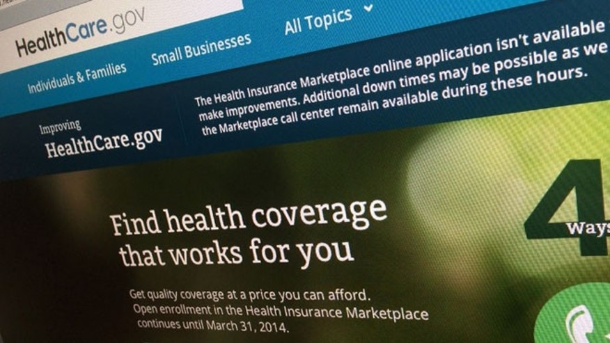 This Nov. 29, 2013 file photo shows part of the HealthCare.gov website on a computer screen in Washington.