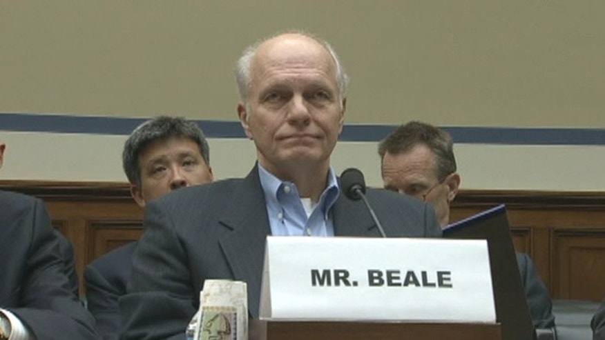 FILE: Oct. 1, 2013: Former EPA official John Beale at a hearing on Capitol Hill, Washington, D.C.