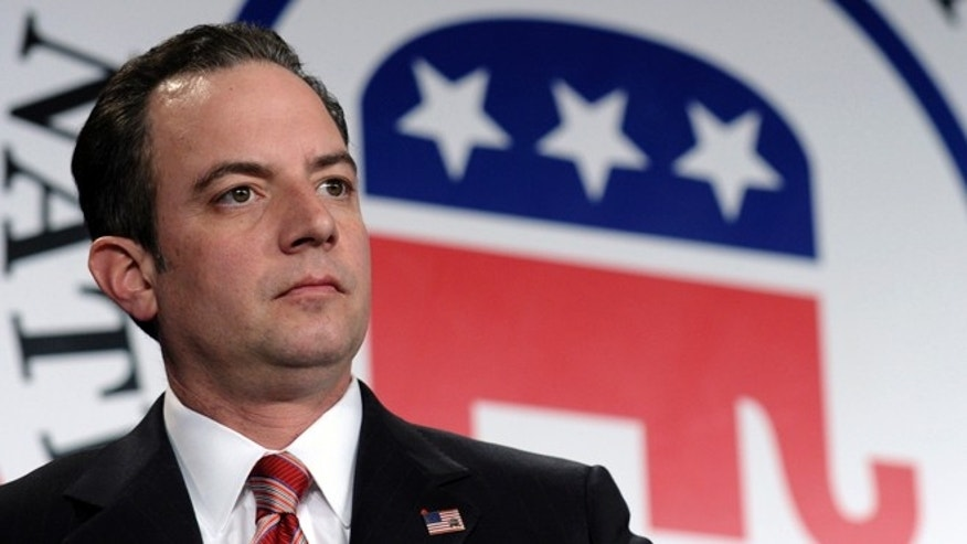 FILE: Jan. 24, 2014: Republican National Committee chairman Reince Priebus at the group'swinter meeting in Washington, D.C.