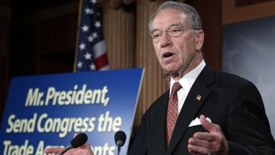 FILE: Sen. Charles Grassley speaks on Capitol Hill.