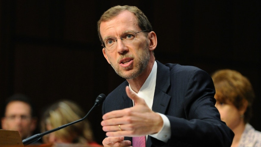 FILE: Congressional Budget Office Director Douglas Elmendorf delivers testimony before the first Joint Deficit Reduction Committee hearing on Capitol Hill in Washington.