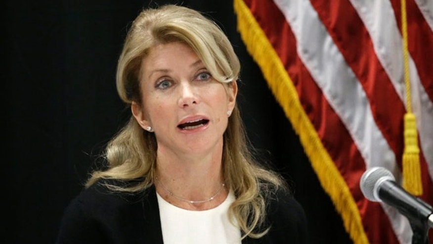 Jan. 9, 2014: Texas state Sen. Wendy Davis speaks at an education roundtable meeting in Arlington, Texas.