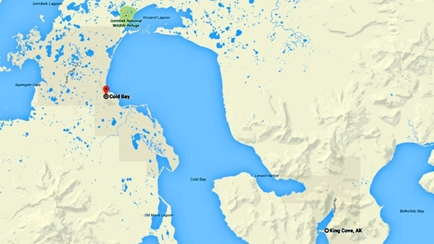 Above is a map showing King Cove and the community of Cold Bay, which residents want to connect with a road.