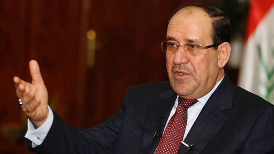 Jan. 12, 2014: Iraqi Prime Minister Nouri al-Maliki speaks during an interview with Reuters in Baghdad.