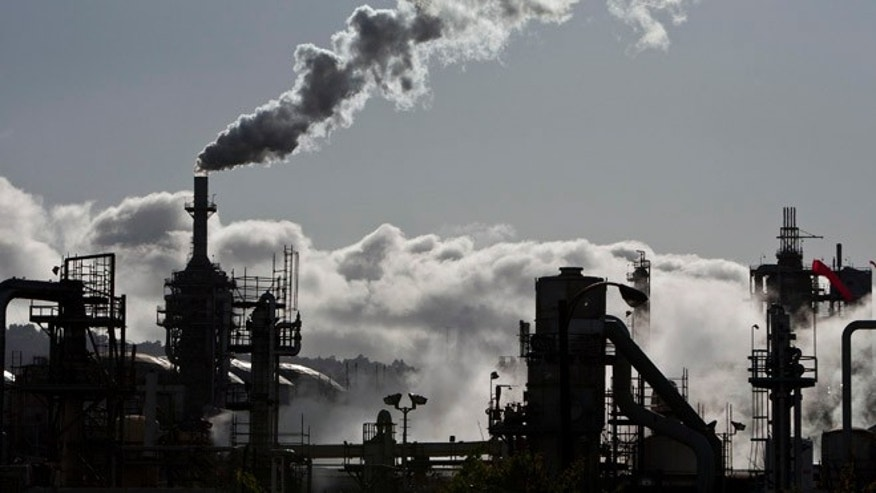 March 24, 2012: Smoke is released into the sky at the ConocoPhillips oil refinery in San Pedro, Calif.
