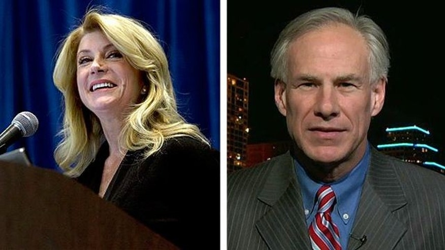 Texas gubernatorial candidates Wendy Davis, left, and Greg Abbott, right. (AP/FoxNews)