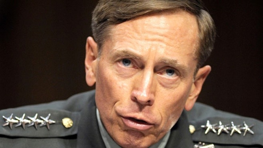 June 23, 2011: Then-CIA Director-designate Gen. David Petraeus testifies on Capitol Hill in Washington.