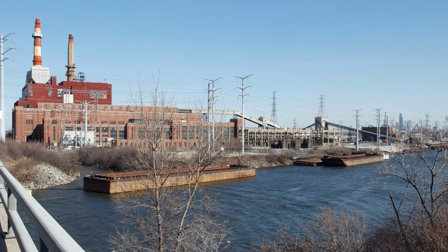 FILE: Feb. 28, 2012: Midwest Generation's Crawford Generating Station, a coal-fired power plant, in Chicago.