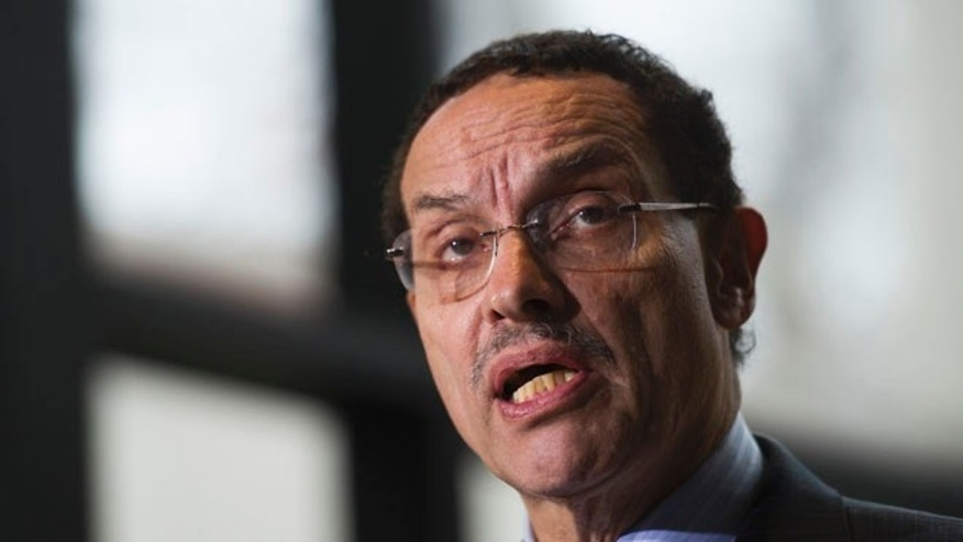 FILE: Dec. 6, 2013:  District of Columbia Mayor Vincent Gray speaks in Washington.