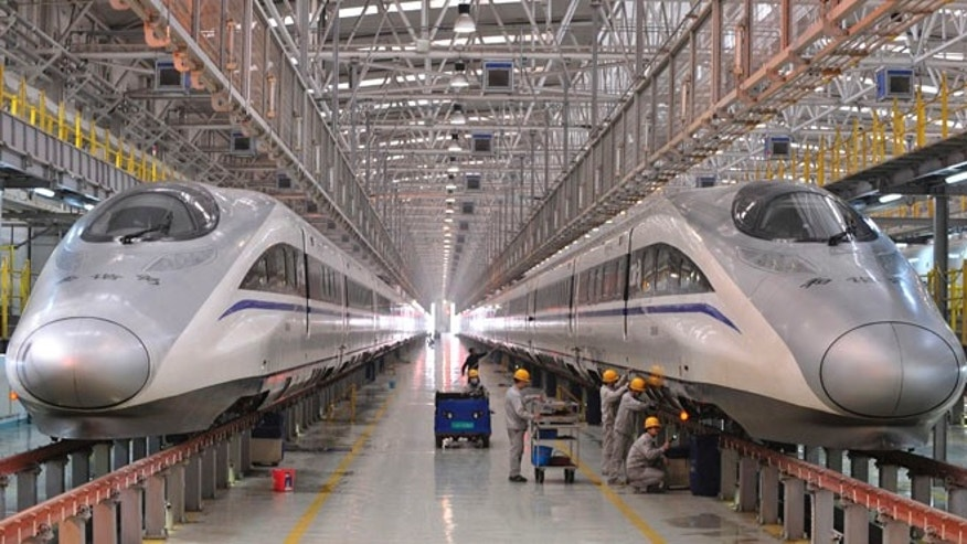 FILE: Jan. 7, 2014: U.S. states are trying to build systems for high-speed trains like the one seen here in  China.