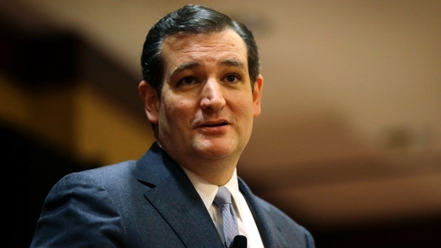 U.S. Sen. Ted Cruz, R-Texas, speaks at the Network of Iowa Christian Home Educators state Capitol day event, Tuesday, March 18, 2014, in Des Moines, Iowa. Cruz has made four trips to Iowa in eight months. (AP Photo/Charlie Neibergall)