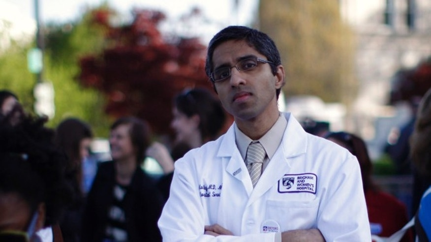 FILE; March 26, 2012: Dr. Vivek Murthy outside the Supreme Court in Washington, D.C.