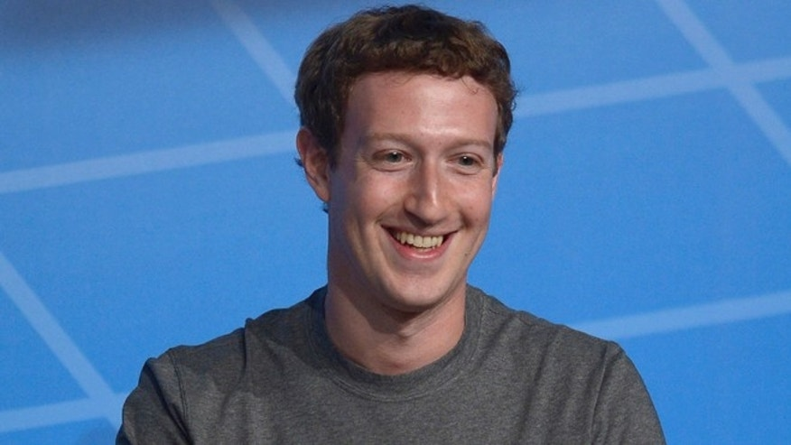 Feb. 24, 2014: This file photo shows Facebook Chairman and CEO Mark Zuckerberg during a conference in Barcelona, Spain.