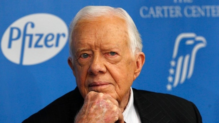 FILE: Nov. 5, 2013: Former President Jimmy Carter at a news conference in New York City, N.Y.