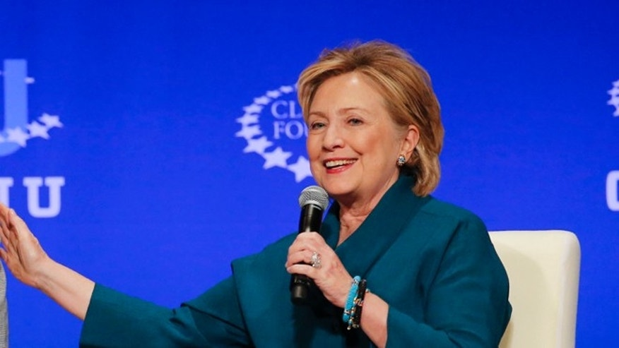 March 22, 2014: Former first lady Hillary Clinton at a  Clinton Global Initiative University conference in Tempe, Ariz.