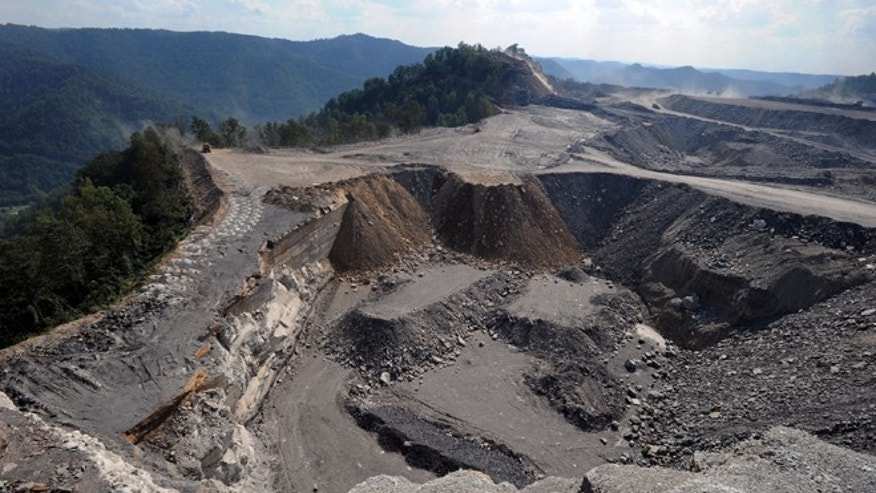Sept. 18, 2008: This photo shows a mountaintop removal mining site at Kayford Mountain, W.Va.