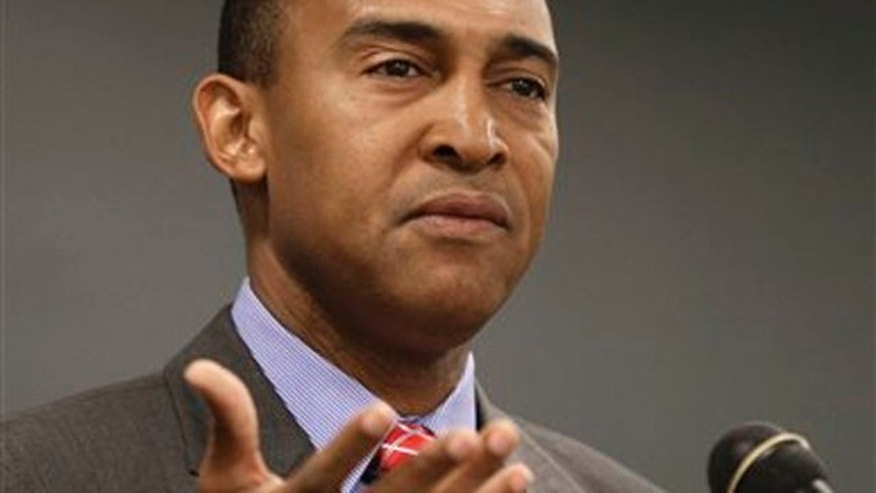 Oct. 29, 2013: Then-candidate for Charlotte mayor Patrick Cannon speaks to students at Queens University in Charlotte, N.C.