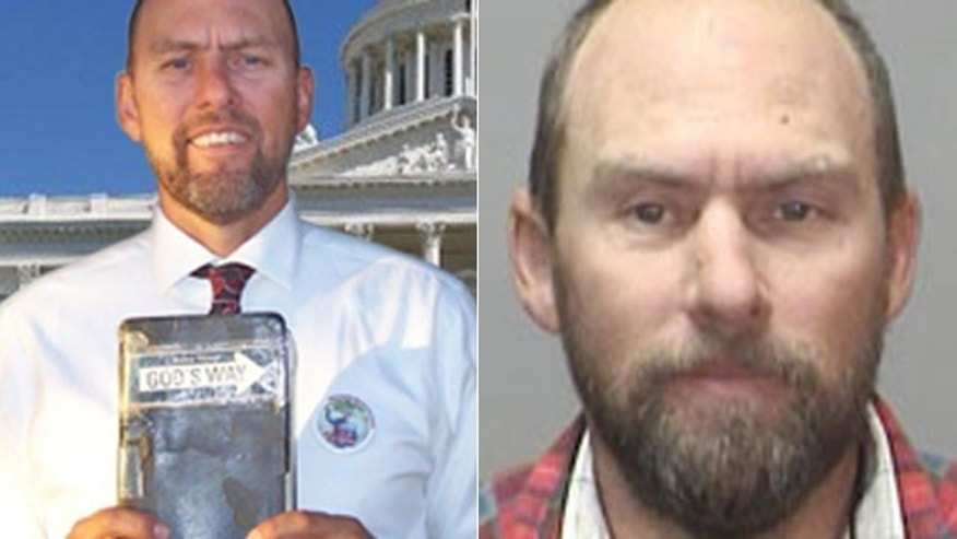 Glenn Champ in a photo on his campaign website, left, and in a picture on the Megan's Law website for registered sex offenders.