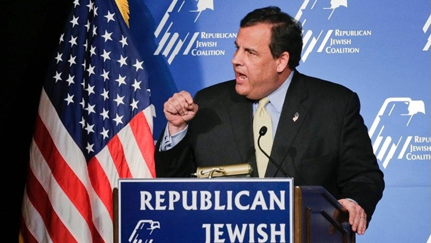 March 29, 2014: New Jersey Gov. Chris Christie speaks at the Republican Jewish Coalition, in Las Vegas, Nevada.