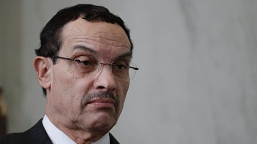 FILE: Washington D.C. Mayor Vincent Gray at a news conference on Capitol Hill in Washington.