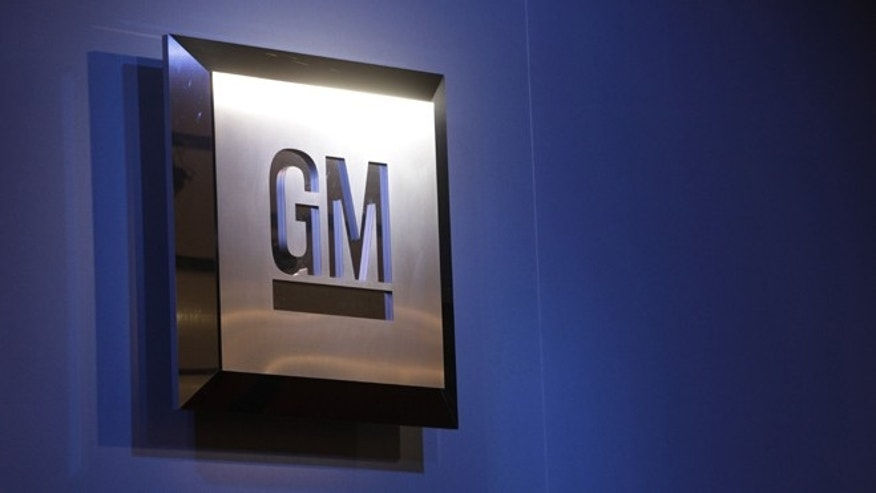 Jan. 12, 2009: The General Motors logo is on display at the North American International Auto Show in Detroit.