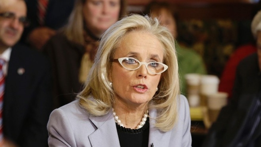 FILE: Feb. 28, 2014: Michigan Democrat Debbie Dingell announces her candidacy for a House seat, in Dearborn, Mich.