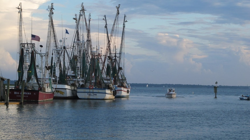 Aug. 18, 2013: Shrimp boats sit at dock in Mount Pleasant, S.C., in this photograph.