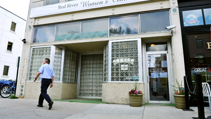 FILE: The Red River Women's Clinic is pictured in downtown Fargo, North Dakota.