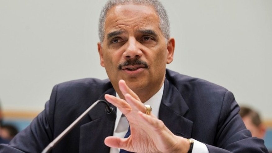 April 8, 2014: Attorney General Eric Holder testifies on Capitol Hill in Washington. (AP Photo/Manuel Balce Ceneta, File)