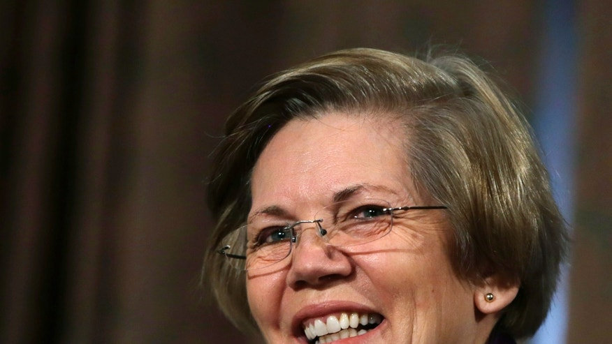Feb. 27, 2014: Senator Elizabeth Warren, D-Mass., appears at the Senate Banking Housing and Urban Affairs Committee on Capitol Hill.