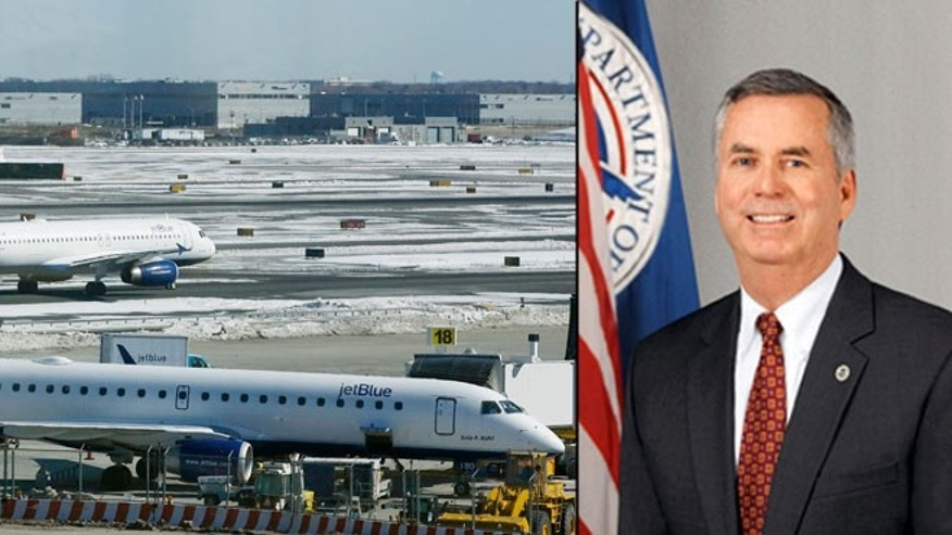 Shown at right is Robert Bray, director of the Federal Air Marshal Service.