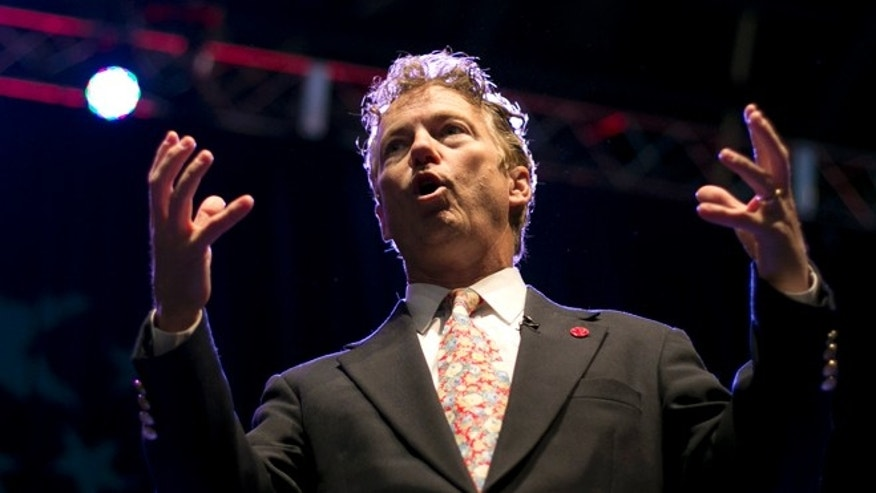 April 26, 2014: Sen. Rand Paul, R-Kentucky, speaks at the Maine Republican Convention, Bangor, Maine.