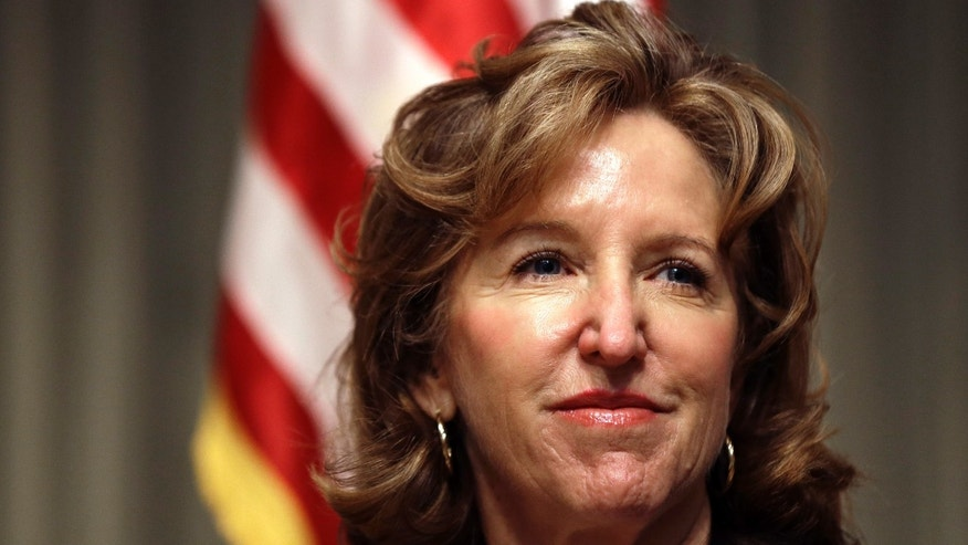 April 16, 2014: Sen. Kay Hagan, D-N.C., listens during an appearance in Durham, N.C.