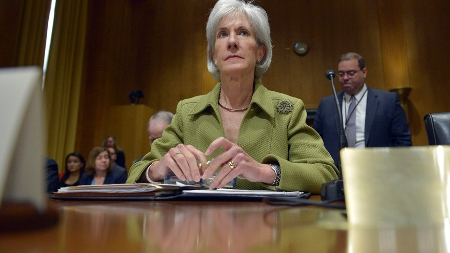 FILE: Outgoing HHS Secretary Kathleen Sebelius testifies.