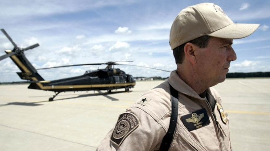FILE: 2008: A Department of Homeland Security Customs and Border Protection director at Selfridge Air National Guard Base, in Michigan.