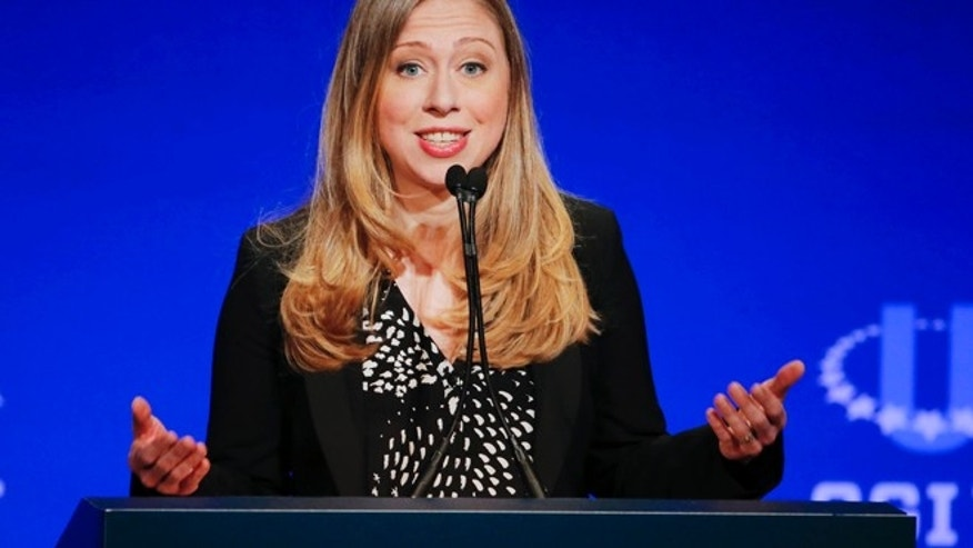 March 2, 2014: Chelsea Clinton, vice chair of the Clinton Foundation, speaks during a student conference for the Clinton Global Initiative University at Arizona State University in Tempe, Ariz.