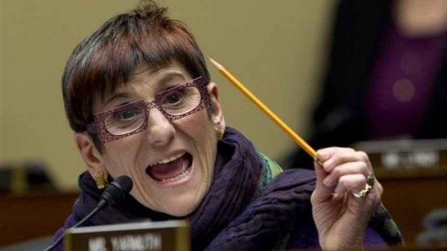 FILE: Feb. 16, 2012: Rep. Rosa DeLauro, D-Conn., speaks on Capitol Hill in Washington, during a House oversight hearing.