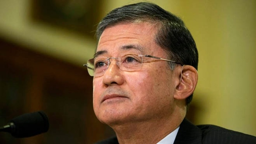 FILE: Veterans Affairs Secretary Eric Shinseki on Capitol Hill in Washington, D.C.