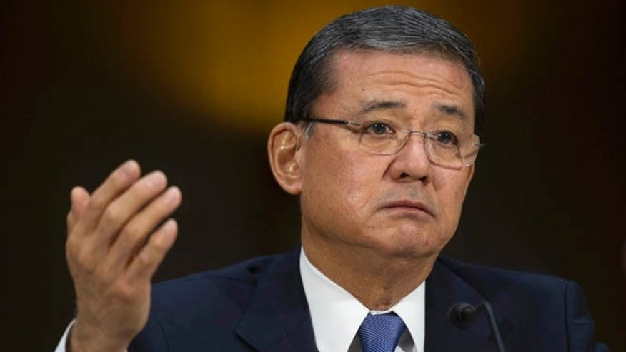 May 15, 2014: Veterans Affairs Secretary Eric Shinseki testifies on Capitol Hill in Washington.