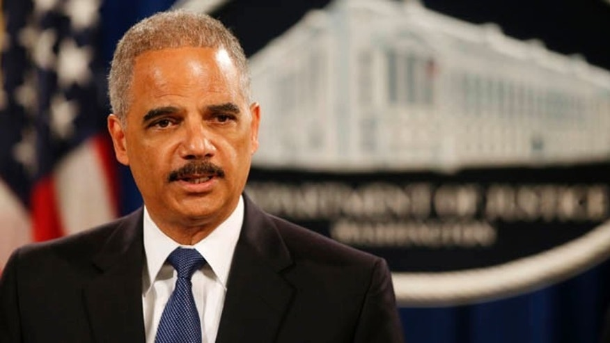 May 19, 2014: Attorney General Eric Holder speaks at a news conference at the Justice Department in Washington.