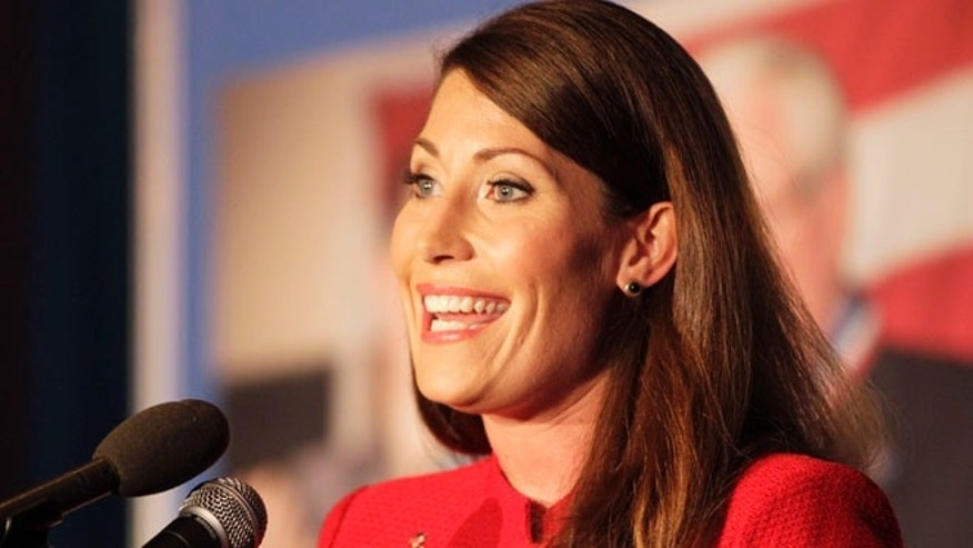 U.S. Senate candidate Alison Lundergan Grimes at her primary election night celebration at the Carrick House in Lexington, Ky., on Tuesday, May 20, 2014.