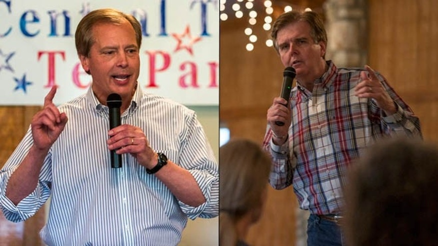 Shown here are Texas Lt. Gov. David Dewhurst, left, and state Sen. Dan Patrick.