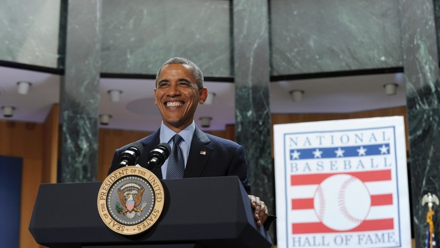 May 22, 2014: President Obama speaks at the Baseball Hall of Fame in Cooperstown, N.Y.