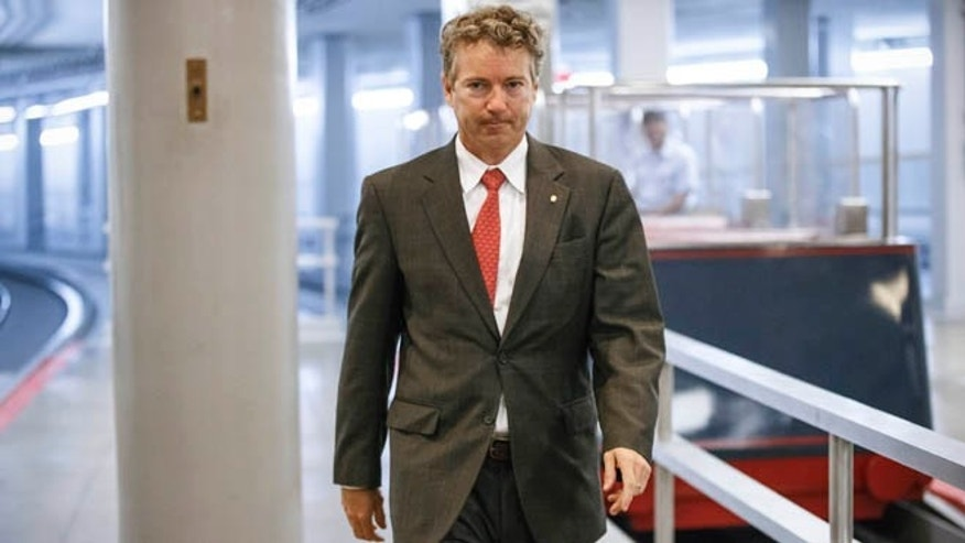 May 12, 2014: Sen. Rand Paul, R-Ky., walks to the Senate floor at the Capitol in Washington.