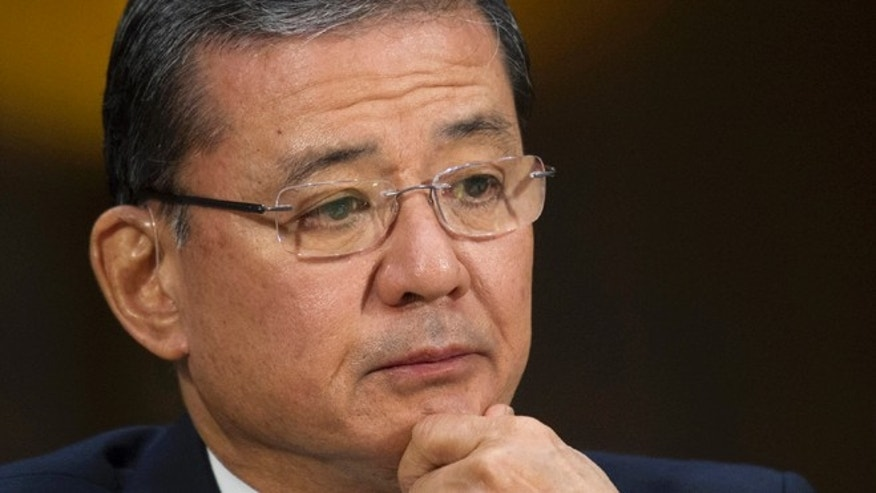 May 15, 2014: Veterans Affairs Secretary Eric Shinseki testifying on Capitol Hill in Washington. (AP)