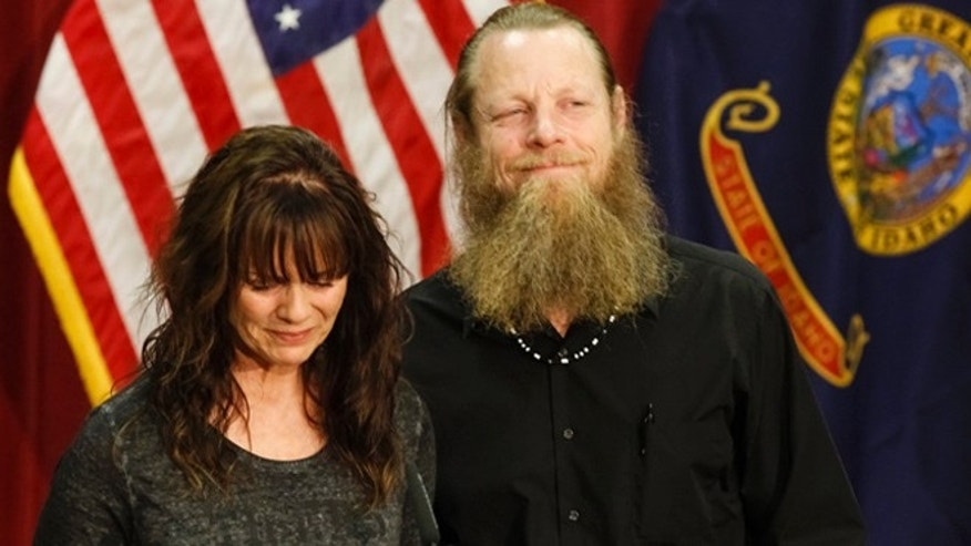 June 1, 2014: Jani and Bob Bergdahl speak at a press conference at Gowen Field in Boise, Idaho.